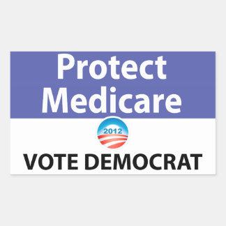 Protect Medicare: Vote Democrat Rectangular Sticker