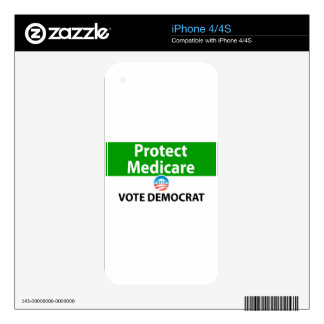 Protect Medicare: Vote Democrat iPhone 4 Skins
