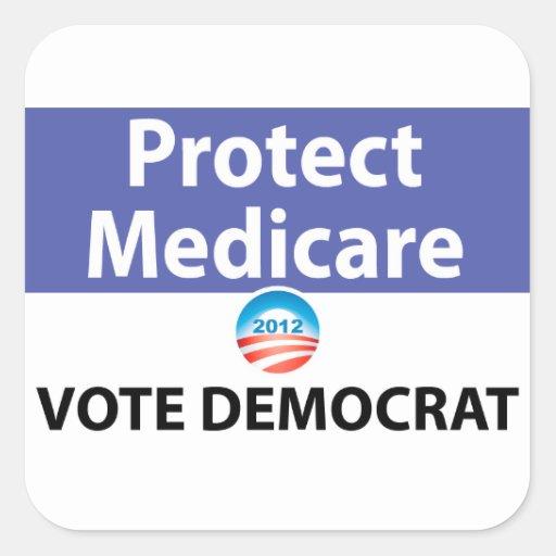Protect Medicare: Vote Democrat Stickers