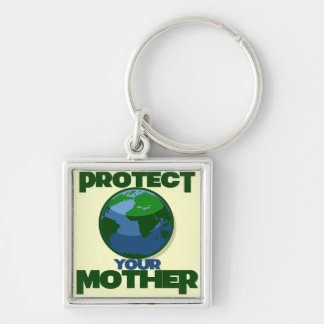 Protect Mother Earth for Earth Day Keychain