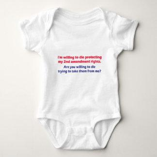 PROTECT MY 2ND AMENDMENT RIGHTS INFANT CREEPER