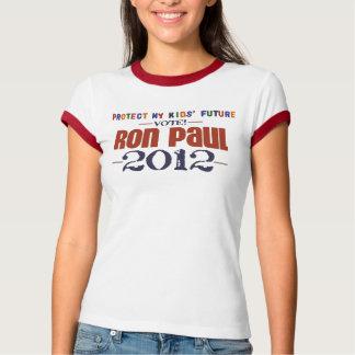 Protect My Kids' Future Ron Paul Ringer T-Shirt