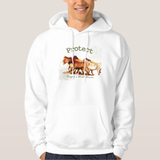 Protect Oregon's Wild Horses Hooded Pullover
