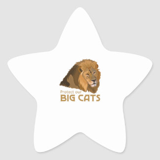PROTECT OUR BIG CATS STAR STICKER
