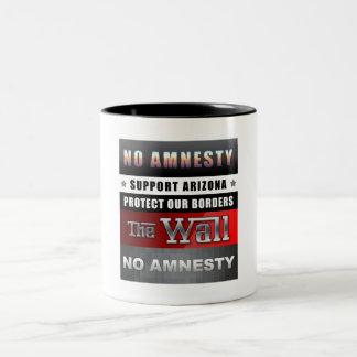 Protect Our Borders Two-Tone Coffee Mug