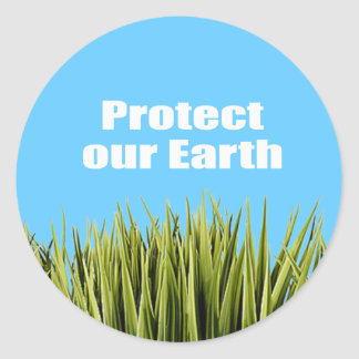 Protect our Earth Round Sticker