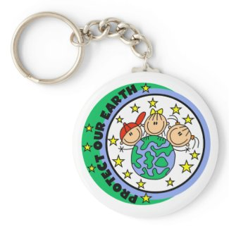 Protect Our Earth Tshirts and Gifts keychain