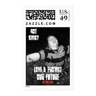 Protect our future postage stamp