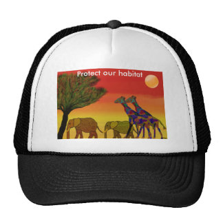 Protect our habitat trucker hat