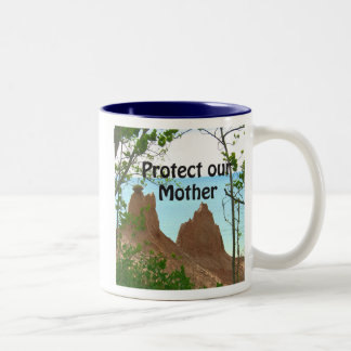 protect our mother, protect our mother Two-Tone coffee mug