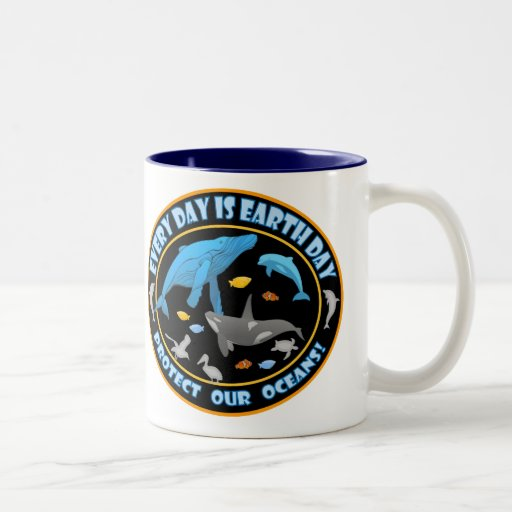 Protect Our Oceans Earth Day Coffee Mugs