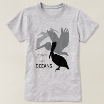 Protect Our Oceans Pelican Ladies T-shirt