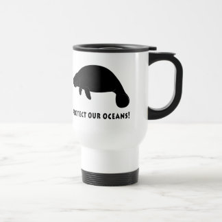 Protect Our Oceans with Manatee Travel Mug