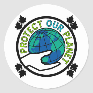 Protect Our Planet Classic Round Sticker