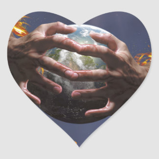 Protect our planet heart sticker