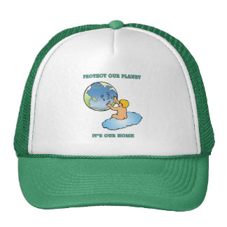 """Protect Our Planet. It's Our Home"" Mesh Hats"