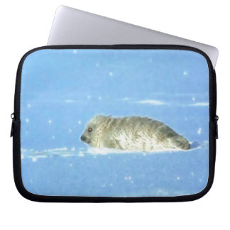 Protect Our Seals from Hunting - Wildlife Art Computer Sleeve