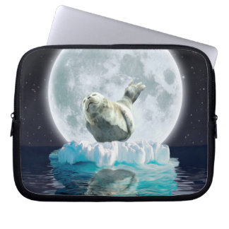 Protect Our Seals from Hunting - Wildlife Art Laptop Sleeve