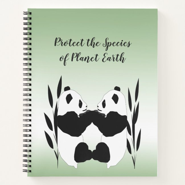 Protect Our Species Earth Day Pandas Notebook