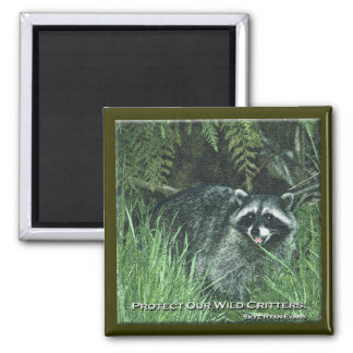"""""""PROTECT OUR WILD CRITTERS!"""" Art Magnets"""