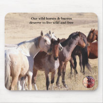 Protect Our Wild Horses Mouse Pad