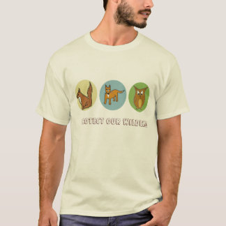 Protect our Wildlife Forest Creatures design T-Shirt