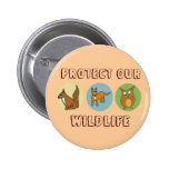 Protect our Wildlife Pinback Button