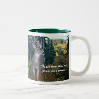 Protect our wildlifeMount Rainier Nat... Two-Tone Coffee Mug