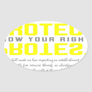 Protect Protest Oval Sticker