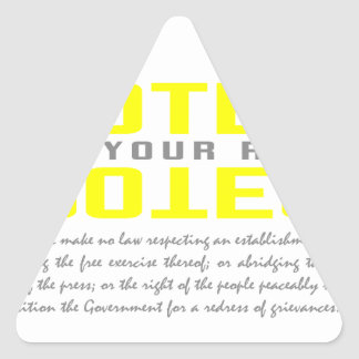 Protect Protest Triangle Sticker