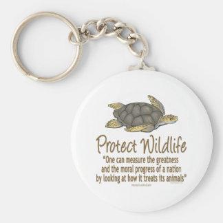 Protect Sea Turtles Basic Round Button Keychain
