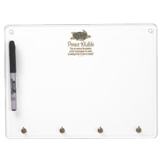 Protect Sea Turtles Dry Erase Board With Keychain Holder
