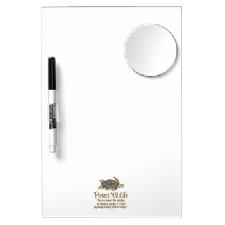 Protect Sea Turtles Dry Erase Board With Mirror
