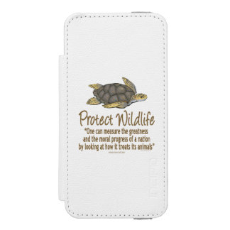Protect Sea Turtles iPhone SE/5/5s Wallet Case