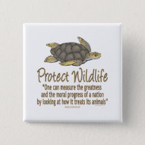 Protect Sea Turtles Pinback Button