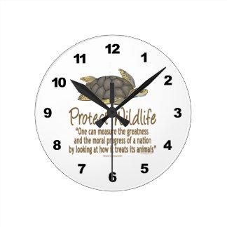 Protect Sea Turtles Round Clock