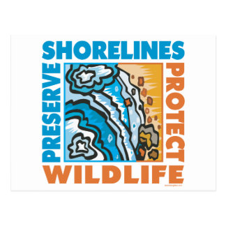 Protect Seashore Postcard
