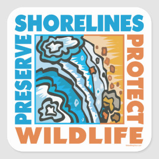 Protect Seashore Square Sticker