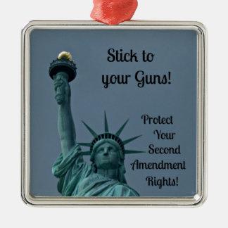 Protect Second Amendment Rights... Metal Ornament