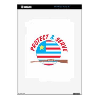 Protect & Serve iPad 2 Decals