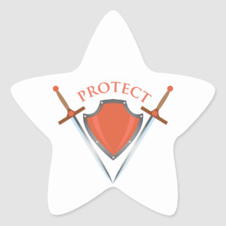 Protect Star Sticker