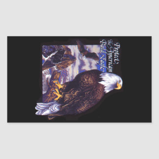 Protect The American Bald Eagle Rectangular Sticker