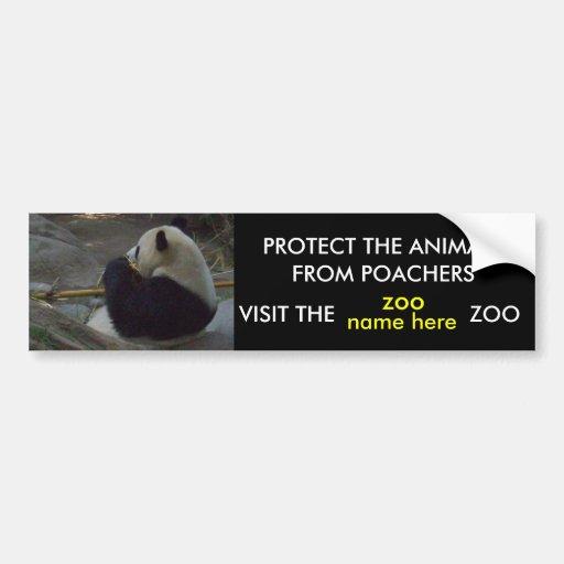 PROTECT THE ANIMALS, bumper sticker