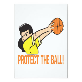 Protect The Ball 5x7 Paper Invitation Card