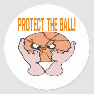 Protect The Ball Classic Round Sticker