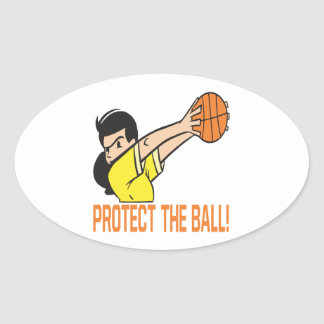 Protect The Ball Oval Sticker