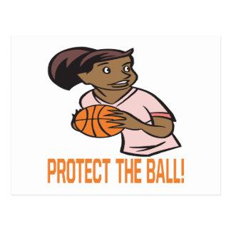 Protect The Ball Postcard