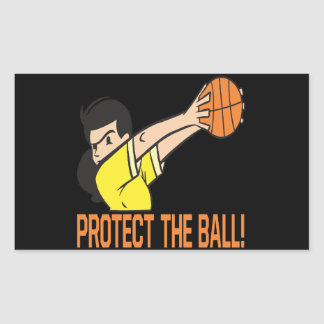 Protect The Ball Rectangular Sticker