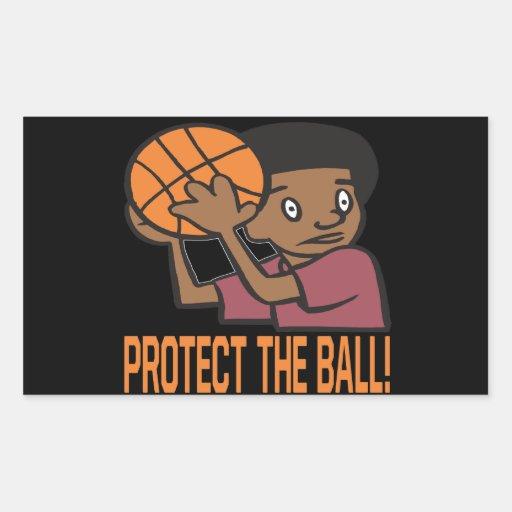 Protect The Ball Rectangular Sticker