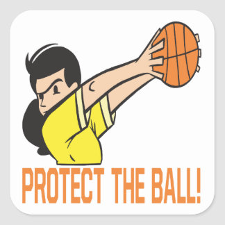Protect The Ball Square Sticker